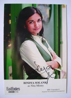 Bindya Solanki autograph (ex EastEnders actor)