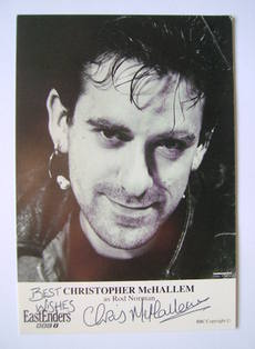 Christopher McHallem autograph (ex EastEnders actor)