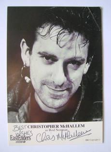 Christopher McHallem autograph (ex EastEnders actor)