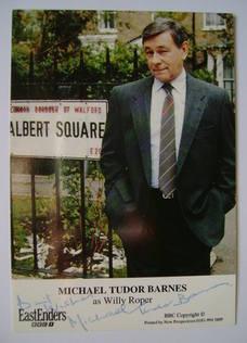 Michael Tudor Barnes autograph