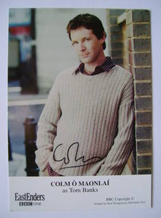 Colm O Maonlai autograph (hand-signed EastEnders cast card)