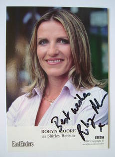 Robyn Moore autograph (ex EastEnders actor)