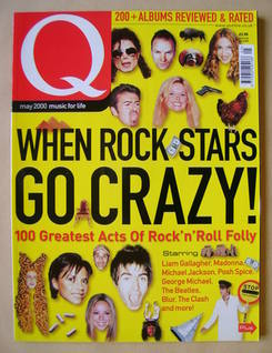 <!--2000-05-->Q magazine - When Rock Stars Go Crazy! cover (May 2000)