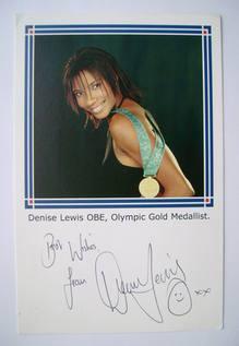Denise Lewis autograph