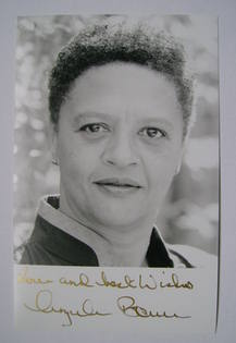 Angela Bruce autograph (hand-signed photograph)