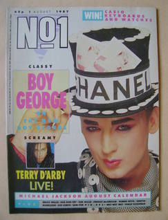 <!--1987-08-01-->No 1 Magazine - Boy George cover (1 August 1987)