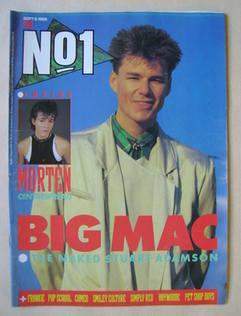 <!--1986-09-06-->No 1 Magazine - Stuart Adamson cover (6 September 1986)