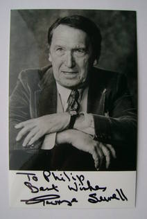George Sewell autograph (hand-signed photograph, dedicated)