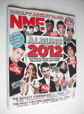 <!--2012-01-21-->NME magazine - Albums of 2012 cover (21 January 2012)
