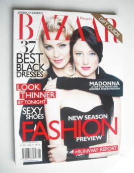 Harper's Bazaar magazine - December 2011/January 2012 - Madonna and Andrea Riseborough cover