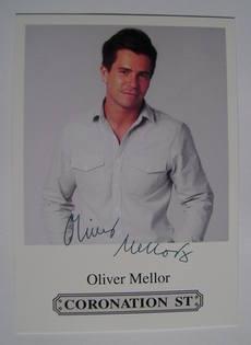 Oliver Mellor autograph