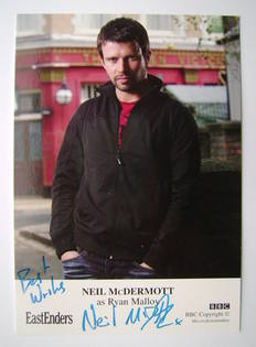 Neil McDermott autographed photo (ex EastEnders actor)
