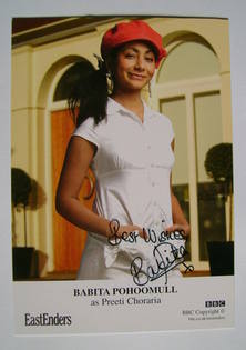 Babita Pohoomull autographed photo (ex EastEnders actor)