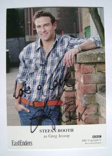 Stefan Booth autographed photo (ex EastEnders actor)