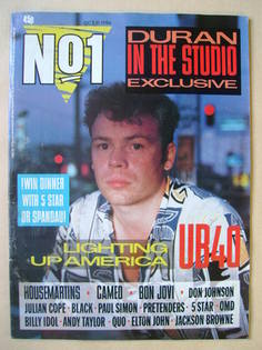<!--1986-10-11-->No 1 Magazine - Ali Campbell cover (11 October 1986)