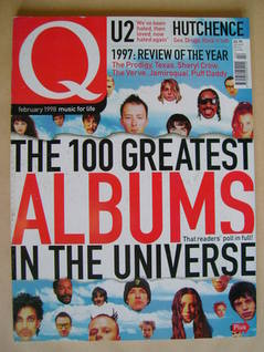 <!--1998-02-->Q magazine - The 100 Greatest Albums In The Universe cover (F