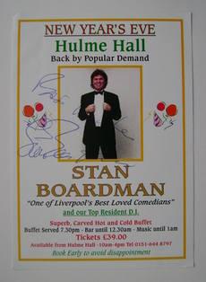 Stan Boardman autograph