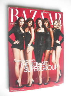 <!--2011-12-->Harper's Bazaar magazine - December 2011 - Supermodels cover