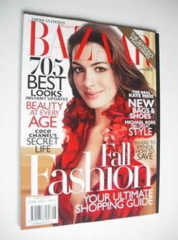 Harper's Bazaar magazine - August 2011 - Anne Hathaway cover