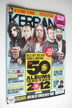 <!--2012-01-21-->Kerrang magazine - The 50 Albums You Need To Hear In 2012