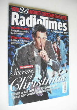 <!--2011-12-03-->Radio Times magazine - Matt Smith cover (3-9 December 2011
