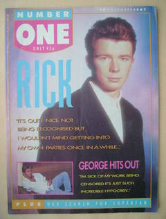 <!--1987-11-14-->NUMBER ONE Magazine - Rick Astley cover (14 November 1987)