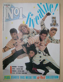 <!--1986-04-26-->No 1 Magazine - Five Star cover (26 April 1986)