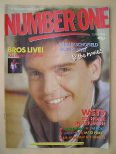 <!--1988-07-02-->NUMBER ONE Magazine - Phillip Schofield cover (2 July 1988