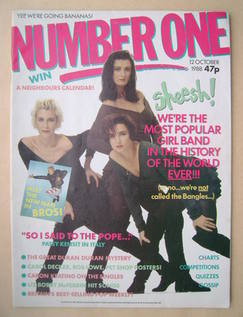 <!--1988-10-12-->NUMBER ONE Magazine - Bananarama cover (12 October 1988)