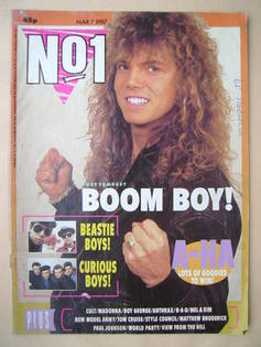 No 1 Magazine - Joey Tempest cover (7 March 1987)