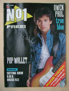 <!--1986-09-13-->No 1 Magazine - Owen Paul cover (13 September 1986)