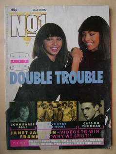 <!--1987-03-21-->No 1 Magazine - Mel Appleby and Kim Appleby cover (21 Marc