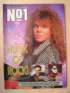 <!--1987-04-11-->No 1 Magazine - Joey Tempest cover (11 April 1987)