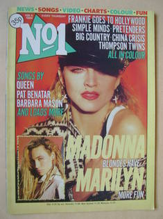 <!--1984-02-04-->No 1 magazine - Madonna cover (4 February 1984)