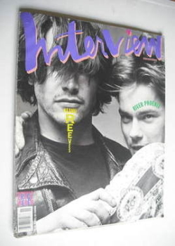 Interview magazine - November 1991 - Keanu Reeves and River Phoenix cover