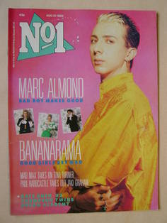 <!--1985-08-31-->No 1 Magazine - Marc Almond cover (31 August 1985)