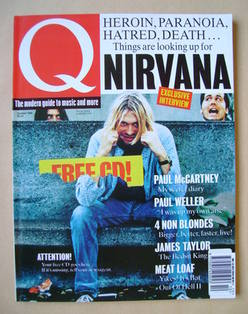 Q magazine - Kurt Cobain cover (October 1993)