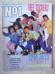 <!--1987-05-02-->No 1 Magazine - The Jets cover (2 May 1987)
