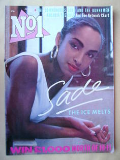 <!--1985-10-26-->No 1 Magazine - Sade cover (26 October 1985)
