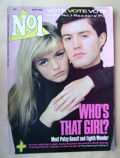 <!--1985-11-09-->No 1 Magazine - Patsy Kensit and Jamie Kensit cover (9 Nov