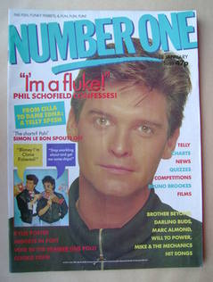 <!--1989-01-18-->NUMBER ONE Magazine - Phillip Schofield cover (18 January