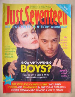 Just Seventeen magazine - 18 January 1989