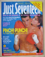 Just Seventeen magazine - 1 February 1989 - Gary Stretch cover