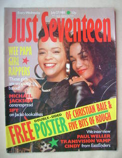 Just Seventeen magazine - 27 July 1988 - Wee Papa Girl Rappers cover