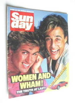 <!--1984-11-25-->Sunday magazine - 25 November 1984 - George Michael and Andrew Ridgeley cover