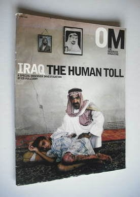 <!--2003-07-06-->The Observer magazine - The Human Toll cover (6 July 2003)
