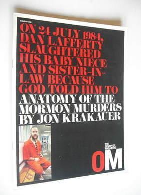 <!--2003-08-31-->The Observer magazine - Dan Lafferty cover (31 August 2003