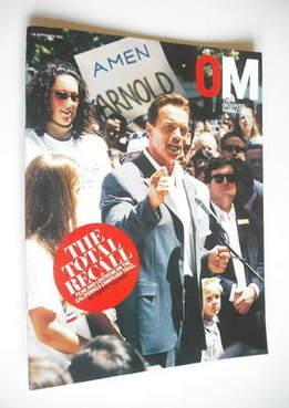 <!--2003-09-28-->The Observer magazine - Arnold Schwarzenegger cover (28 Se