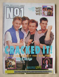 <!--1987-08-29-->No 1 Magazine - Then Jerico cover (29 August 1987)