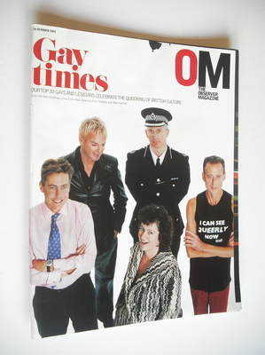 <!--2003-10-26-->The Observer magazine - Gay Times cover (26 October 2003)